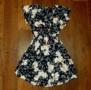 Womens Charlotte Russe Floral Ruffle Dress XS